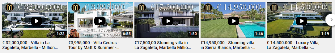 Million Euro Listings - Latest property videos