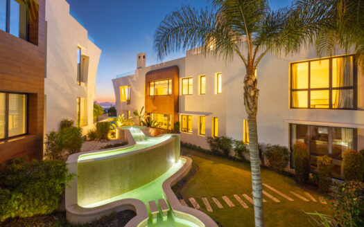 penthouse is located in a top-class residential community in Sierra Blanca, residing above Marbella's Golden Mile