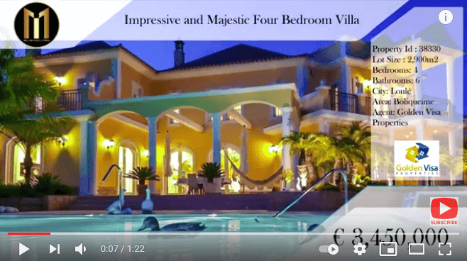 youtube video from million euro listings property portal