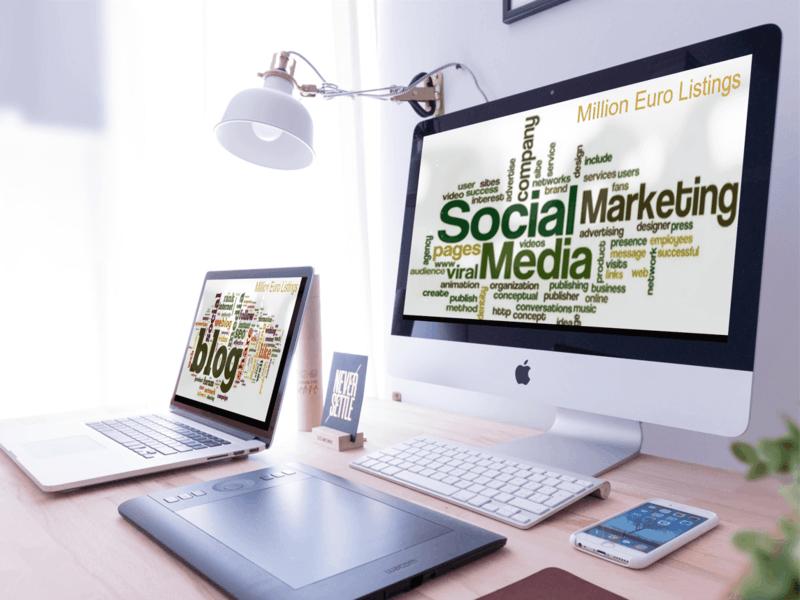 social media blog, youtube, twitter, instagram, pinterest,